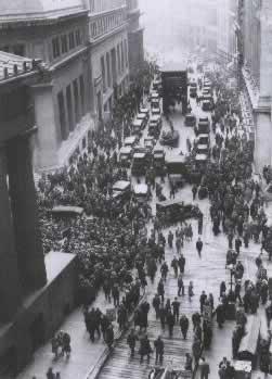 Multitud en la Bolsa de Nueva York